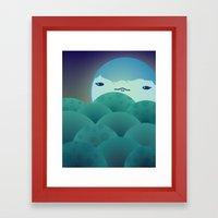 Moonlit Hills Framed Art Print