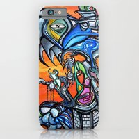 iPhone Cases featuring Parrot Eyes Rising by Larrycalabreseart