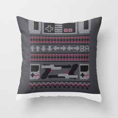 Old School Sweater Throw Pillow