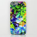 Neon Pansy Garden iPhone & iPod Case