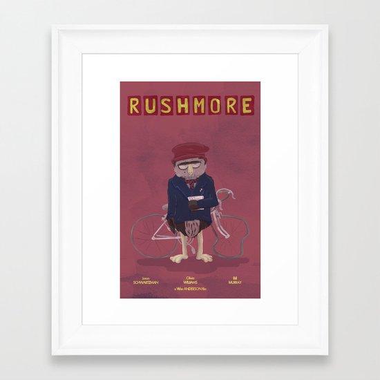 more of a rush Framed Art Print