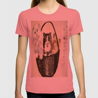 Three Kittens Womens Fitted Tee Pomegranate SMALL