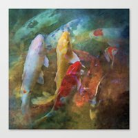 A Swirl Of Koi Canvas Print