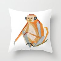 Charlie Monkey Throw Pillow