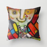 Miss Instagram  Throw Pillow