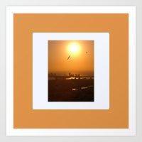 Flying over Cartagena Art Print