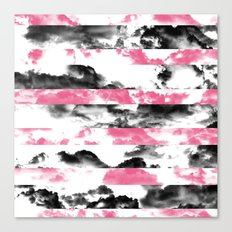 Black and Pink Clouds Canvas Print