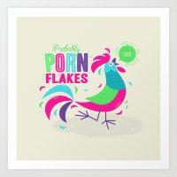 Porn Flakes Art Print