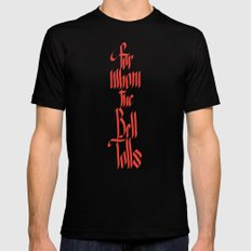 For Whom The Bell Tolls SMALL Mens Fitted Tee Black