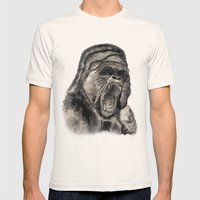 Gorilla Ink Mens Fitted Tee Natural SMALL