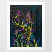 Magic Mushrooms Art Print
