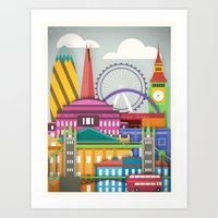 Touristique - London Art Print