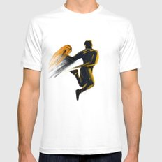 Basketball  SMALL Mens Fitted Tee White