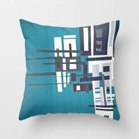 cityblue Throw Pillow