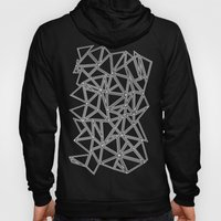 Abstract New White On Bl… Hoody