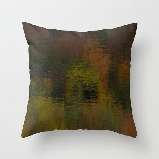 Reflecting Autumn Throw Pillow