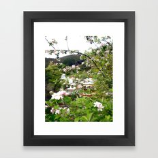 Behind the Flowers! Framed Art Print