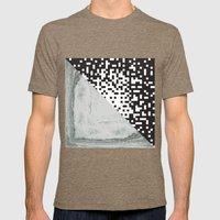 waves/grid #6 Mens Fitted Tee Tri-Coffee SMALL