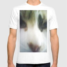 CATATONIC STARE SMALL White Mens Fitted Tee