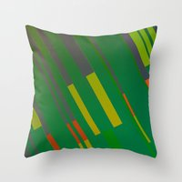 Canopus Green Orange Throw Pillow