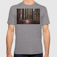 Redwood Forest Mens Fitted Tee Tri-Grey SMALL