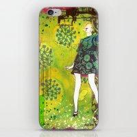 girl in green iPhone & iPod Skin