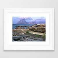 Old Port of Trapani on the Isle of Sicily Framed Art Print