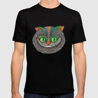 Alice´s cheshire cat by Luna Portnoi Mens Fitted Tee Black SMALL