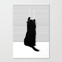 Cat Scratch Canvas Print