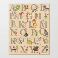 ABC Animals Canvas Print