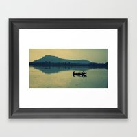 Kashmiri Boatman  Framed Art Print