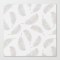 MY SOFT FEATHERS Canvas Print