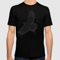 Splatter Crow Mens Fitted Tee Black SMALL