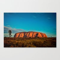 Red Center. Canvas Print