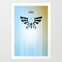 The Legend of Zelda - Hyrule Rising Poster Art Print