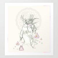 ° The Cream Doily ° Art Print