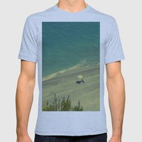 Lady on the Italian Riviera Mens Fitted Tee Athletic Blue SMALL