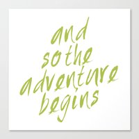 and so adventure begins - green Canvas Print