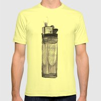 Briquet Mens Fitted Tee Lemon SMALL