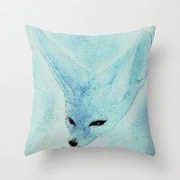 Fenec / Fennecus zerda Throw Pillow
