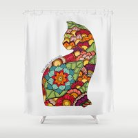 Keep calm and love cats Shower Curtain