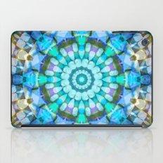 Into the Blue Kaleidoscope iPad Case
