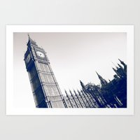 Big Blue Ben Art Print