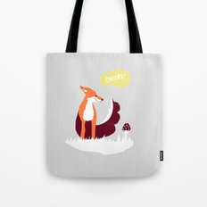 party animals - english fox Tote Bag