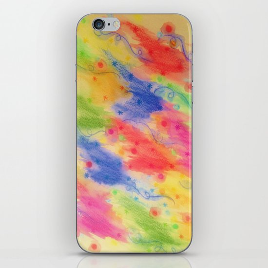 SEEING STARS 2 - Yellow Rainbow Pretty Starry Sky Abstract Watercolor Painting Feminine Pattern iPhone & iPod Skin