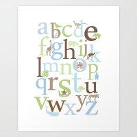 Alphabet Animals - Brody… Art Print