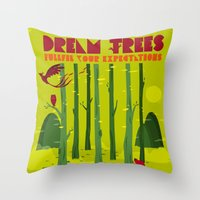 Dream Trees Throw Pillow