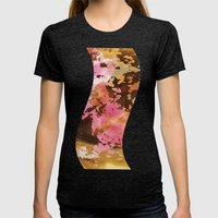 Pink & Golden Womens Fitted Tee Tri-Black SMALL