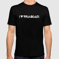 I Heart Triangles Mens Fitted Tee Black SMALL