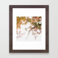 Autumn Origami Framed Art Print